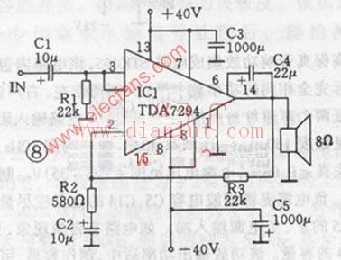 100W功率放大器电路图图片