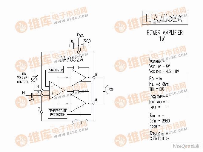 tda7052a音响ic电路图