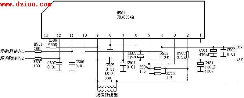 tda8354q应用电路图_集成电路资料