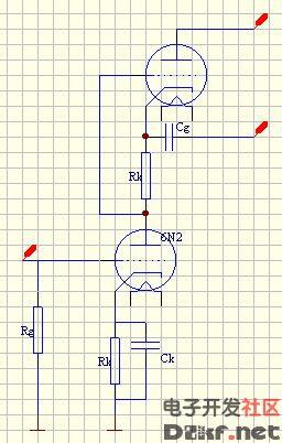 b) srpp电压放大电路