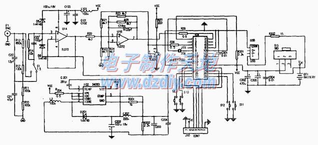 示波器电路�_电路原理图如下图所示,从图中可以看出微型示波器由电源电路,测量