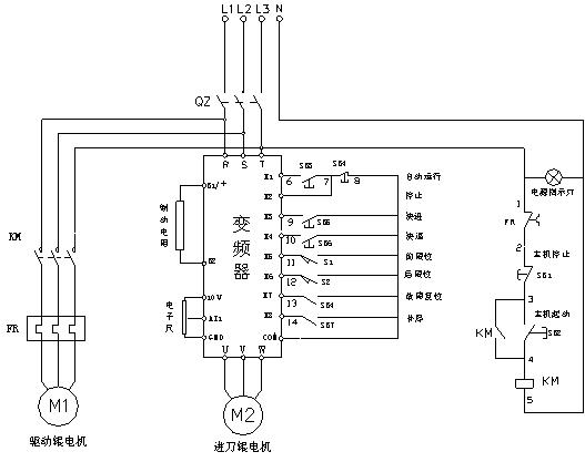 变频启动柜接线图