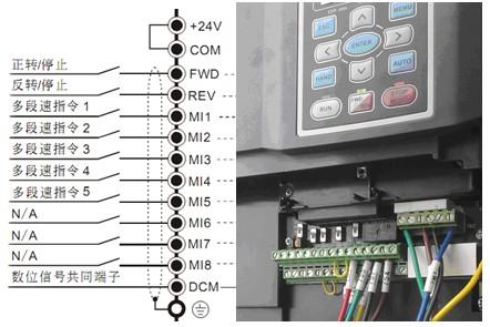 变频器端子接线图