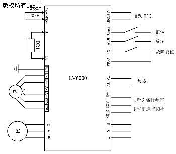 图五 主牵引变频器接线图