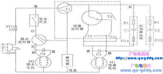 荣事达xpb50洗衣机电路图