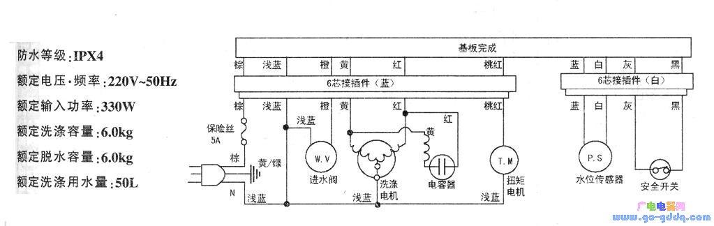 三洋xqb60-s808洗衣机电路图