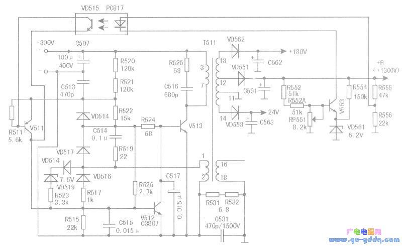 三洋a3机芯开关电源电路原理分析