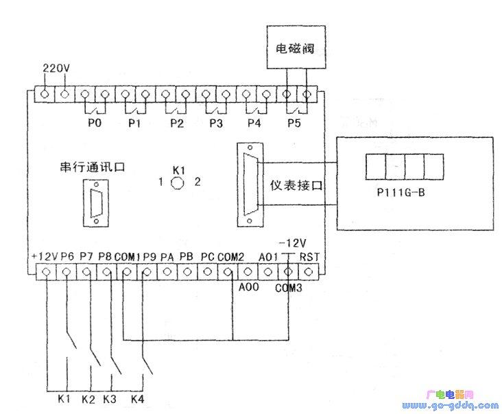 用p111g构成的冲床控制电路