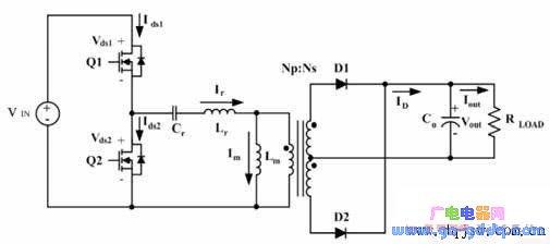 llc谐振变换器的典型线路
