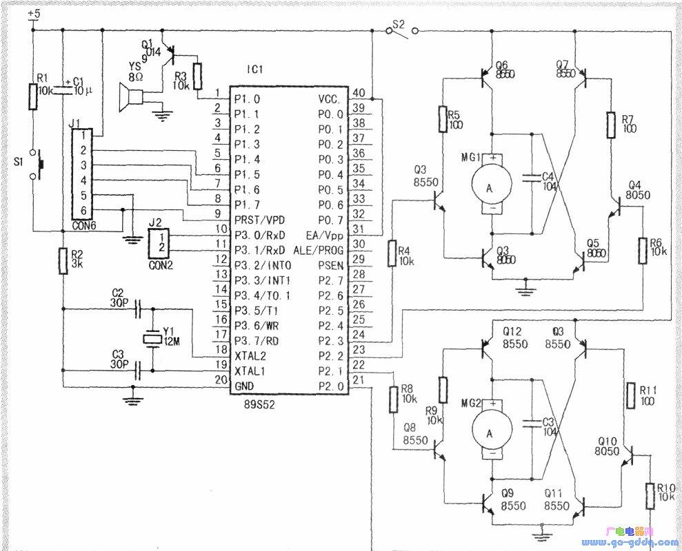 伴舞机器人的电路原理图