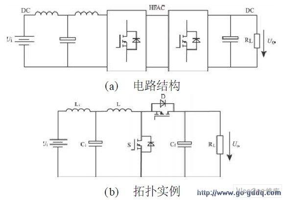 或在图3 所示电路结构中的逆变器和整流器之间插入 高频变压器 ,可