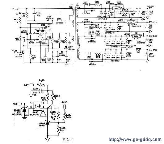 1.LG V7电源板概述 LG V7电源板是LG公司为其PDP42V7型等离子屏配套的原装电源板。该电源板主要采用MR5060和MR2920开关电源芯片作为开关电源主控电路。并外接大功率MOS管作开关电源输出驱动。该电路具备完善的保护电路,并由一块集成电路专门负责。该集成电路整合在一小块电路板上,作为一个专用的模块。 该电源板采用双面印制板,常规的电阻电容元件间夹杂着许多贴片电阻和电容,给维修增加了难度。 该电源板主要输出185V的VS电压、65V的VA电压、24V/30V、12V、9V、5V等电压,提供