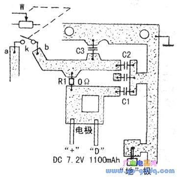 hongda牌hd-8900型对讲机主板电源电路