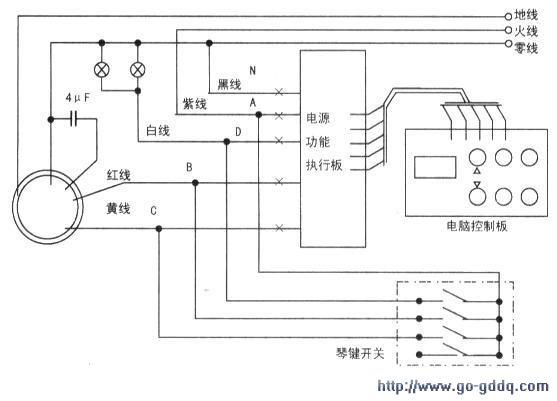 开关中间的接线端子并联后接火线a;标有指示灯的一端并联后接零线n;标