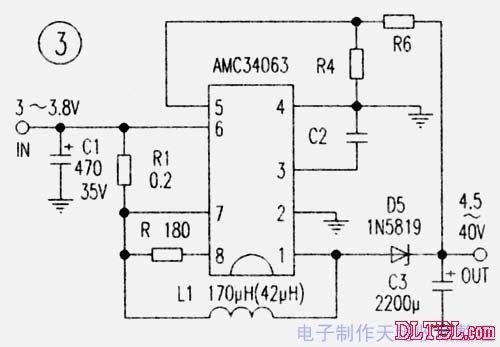 技术资料 电路图 电源电路 amc34063手机充电板的多种用途