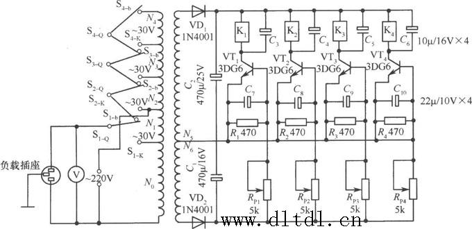 晶体管交流调压器电路