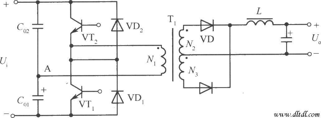 技术资料 电路图 电源电路 半桥变换器式开关稳压电源