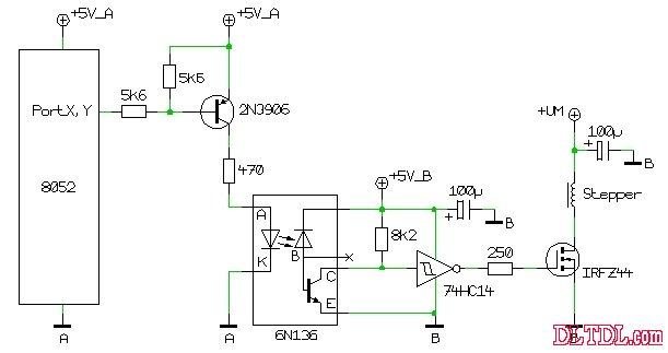 光电藕合器接收整形电路