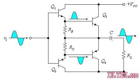 B类OTL功率放大电路原理图片