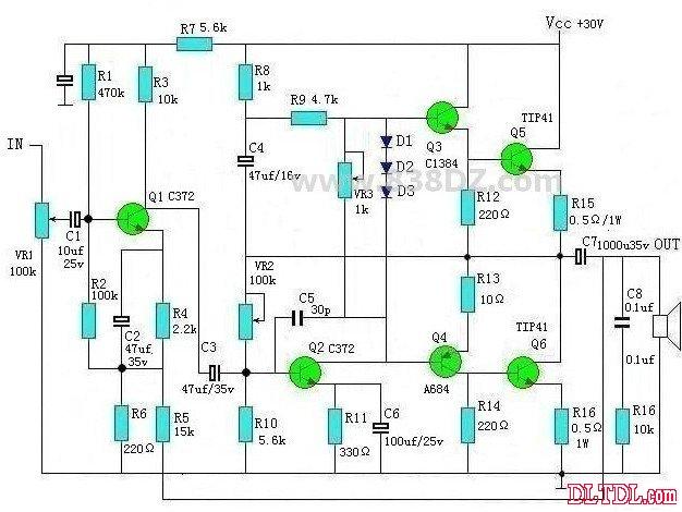 otl功率放大器电路自做