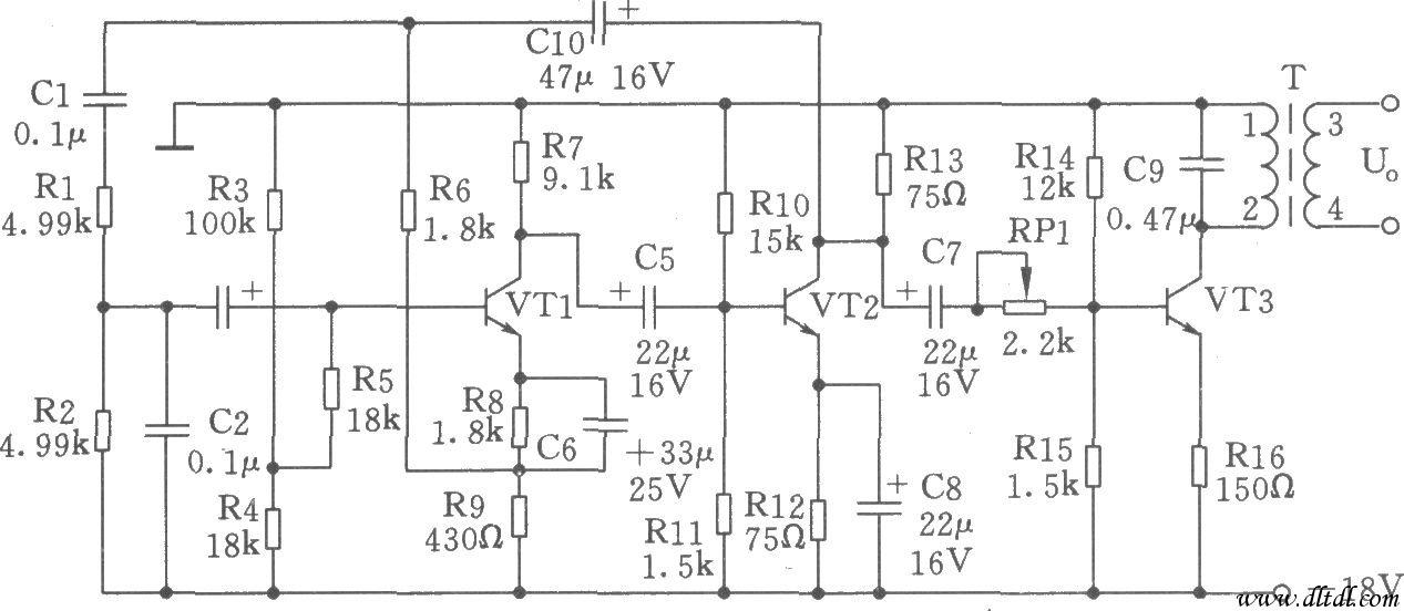 450hz信号发生器为文氏桥振荡器,也称rc振荡器,电路如图所示.