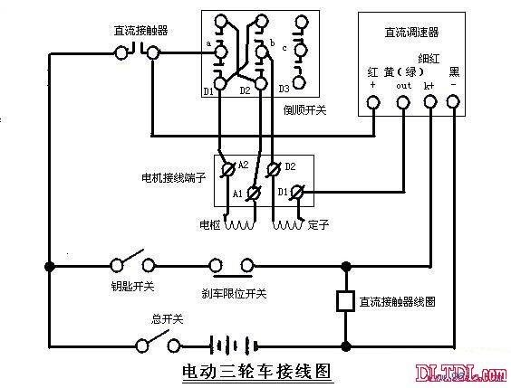 电动三轮车线路图_电动三轮车接线图