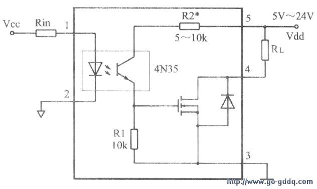 技术资料 电路图 光电电路 直流固态继电器的制作  负载电流在5a以下