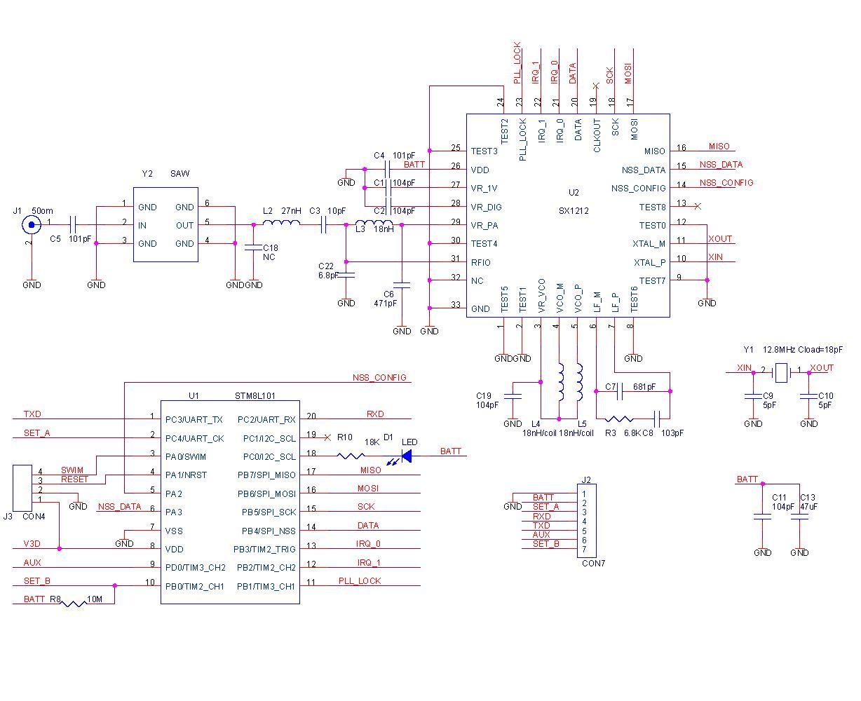 sx1212的系统电路设计图片