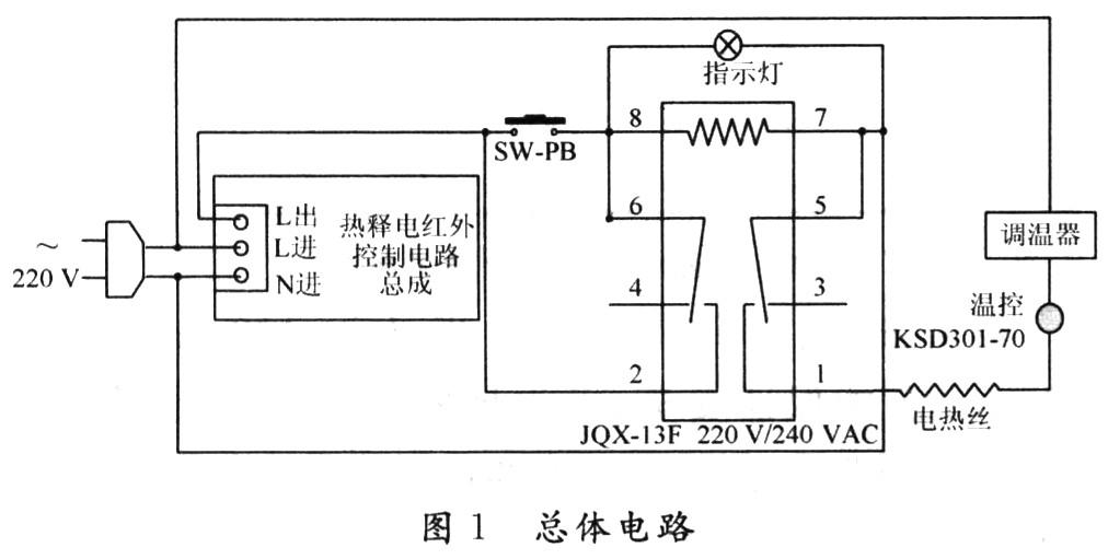 烤火器内部接线图
