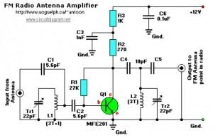 FM接收天线放大器电路图